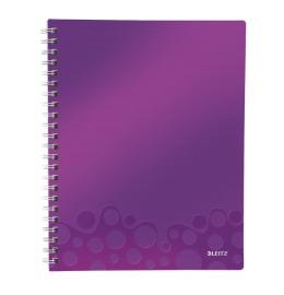 Collegeblock WOW Get Organised A4 liniert violett metallic