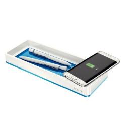 Stifteschale WOW blau metallic Qi-Ladegerät