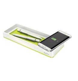 Stifteschale WOW grün metallic Qi-Ladegerät