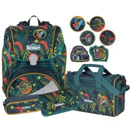 Schulthek-Set Alpha Jungle 4-teilig+6 Stickys