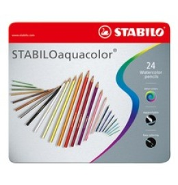 aquacolor Farbstifte 24er Metalletui