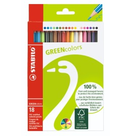 Greencolors Farbstifte 18er Etui