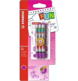 Tintenpatronen Fun pink Blister, 3 Stück
