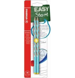 EASYgraph S Bleistift Linkshänder HB 2er Blister hellblau