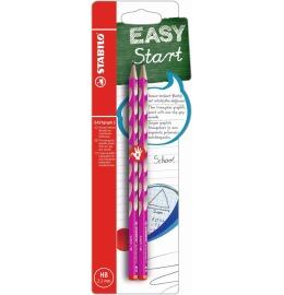 EASYgraph S Bleistift Rechtshänder HB 2er Blister pink
