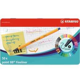Point 88 Fineliner 50er Metalletui