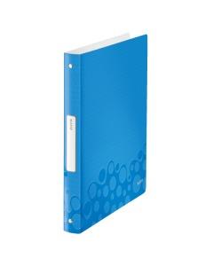 Ringbuch WOW 4-Ring A4 blau metallic 25mm