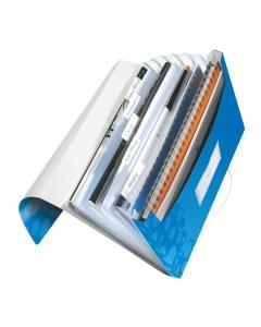 Fächermappe WOW A4 blau metallic 6-teilig