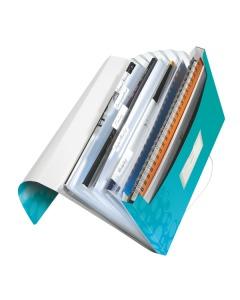 Fächermappe WOW A4 eisblau metallic 6-teilig