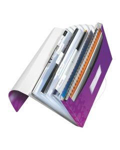 Fächermappe WOW A4 violett metallic 6-teilig