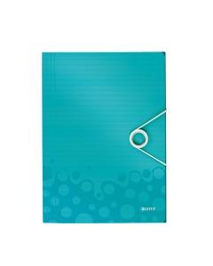 Eckspannermappe WOW A4 eisblau metallic