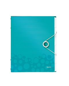 Ordnungsmappe WOW A4 eisblau metallic 6-teilig