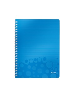 Collegeblock WOW mit Lineal A4 liniert blau metallic