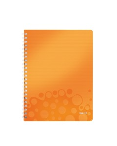 Collegeblock WOW mit Lineal A4 liniert orange metallic