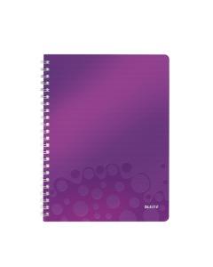 Collegeblock WOW mit Lineal A4 liniert violett metallic
