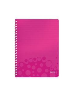 Collegeblock WOW mit Lineal A4 kariert pink metallic