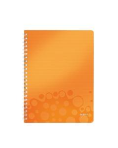 Collegeblock WOW mit Lineal A4 kariert orange metallic