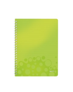 Collegeblock WOW mit Lineal A4 kariert grün metallic