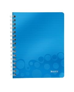 Collegeblock WOW mit Lineal A5 liniert blau metallic