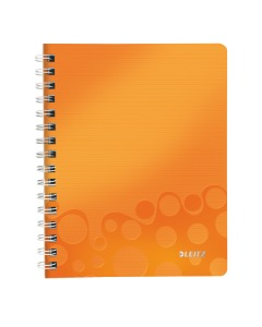 Collegeblock WOW mit Lineal A5 liniert orange metallic