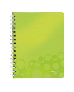 Collegeblock WOW mit Lineal A5 liniert grün metallic