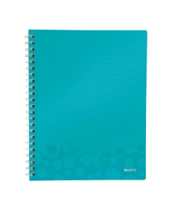 Collegeblock WOW Get Organised A4 liniert eisblau metallic