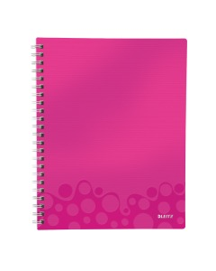 Collegeblock WOW Get Organised A4 kariert pink metallic