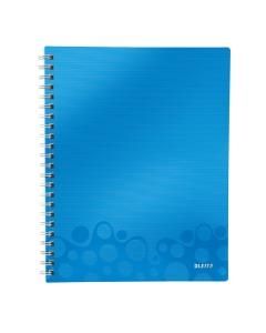 Collegeblock WOW Get Organised A4 kariert blau metallic