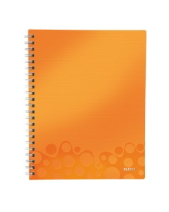 Collegeblock WOW Get Organised A4 kariert orange metallic