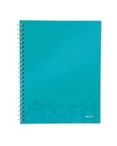 Collegeblock WOW Get Organised A4 kariert eisblau metallic