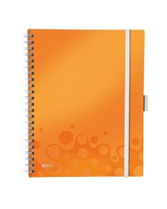 Spiralbuch WOW A4 liniert orange metallic