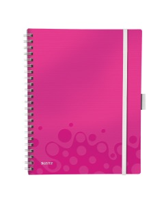 Spiralbuch WOW A4 kariert pink metallic