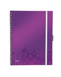 Spiralbuch WOW A4 kariert violett metallic