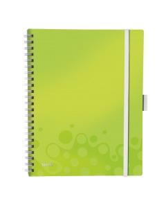 Spiralbuch WOW A4 kariert grün metallic