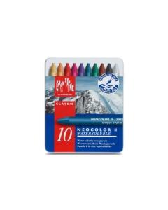 Wachspastelle Neocolor II 10-farbig assortiert