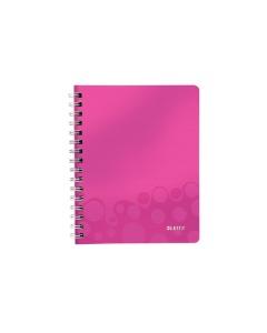 Spiralbuch WOW A5 kariert pink metallic