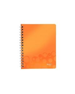 Spiralbuch WOW A5 kariert orange metallic