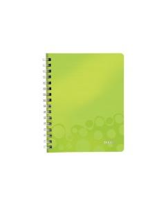 Spiralbuch WOW A5 kariert grün metallic