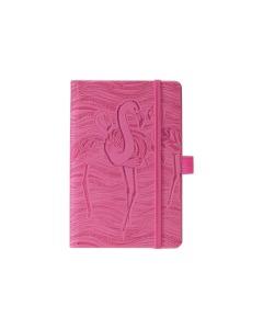 Animals Flamingo 13x21cm blanko, 240 Seiten