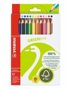 Green Trio Farbstifte 12er Etui