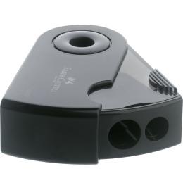 Doppelspitzdose Sleeve schwarz 70x33x21mm