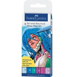 Tuschestift Pitt Artist Pen Manga Shojo 6er Etui