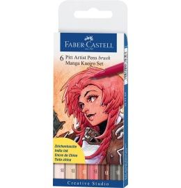 Tuschestift Pitt Artist Pen Manga Kaoiro 6er Etui