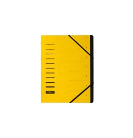 Ordnungsmappe gelb 7-teilig
