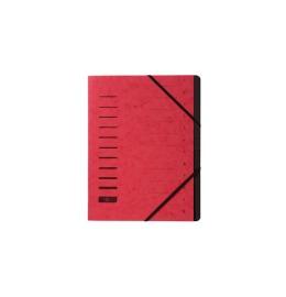 Ordnungsmappe rot 12-teilig
