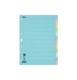Register Karton, blanko A4 12-teilig, farbig