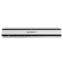 Aluminium Lineal cm/inch Skala