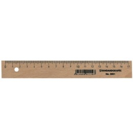 Holzlineal 17cm unlackiert