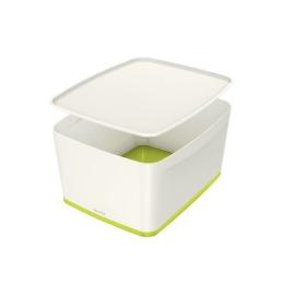 MyBox Gross, mit Deckel 18lt weiss/grün