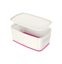 MyBox Klein, mit Deckel 5lt weiss/pink